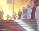Камеры сняли момент взрыва поезда на вокзале в центре Каира (18+)
