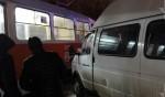 Шесть человек пострадали в столкновении маршрутки и трамвая в Ульяновске