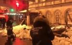 Видео с места обрушения пешеходного моста под снегом в Твери