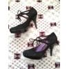 Туфли черные замшевые