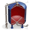 Дренажные системы дру  щелевого типа для фильтров фипа,