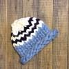 Модные вязаные шапочки,   из мериносовой пряжи