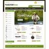 Шаблон для интернет магазина ShopCms на тему рыбалка